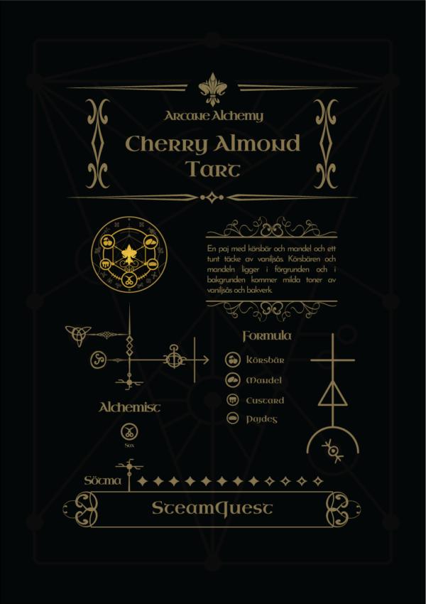 Arcane Alchemy - Cherry Almond Tart